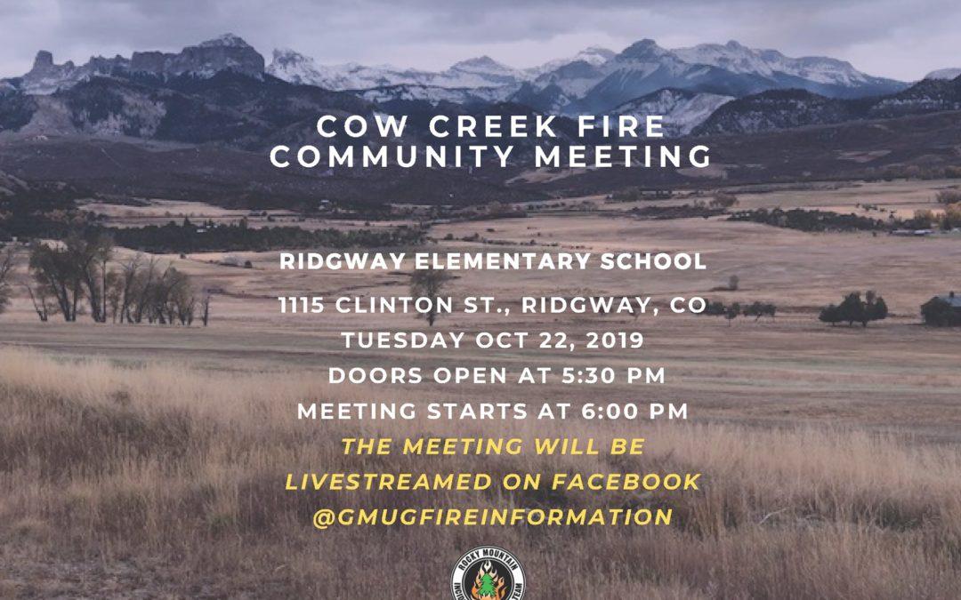 Cow Creek Fire Community Meeting