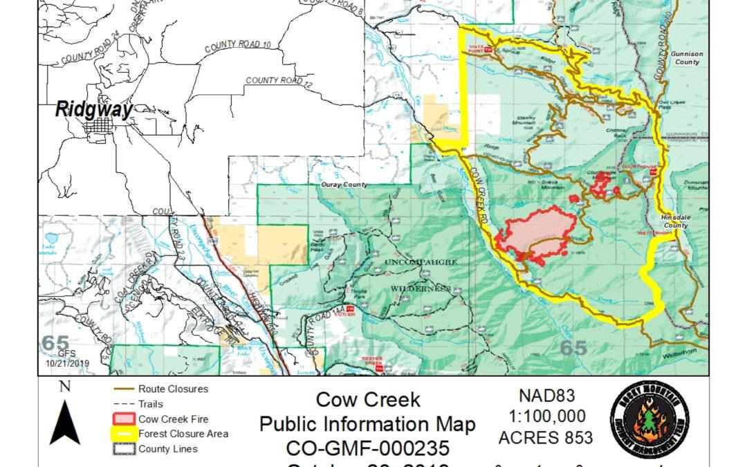 Cow Creek Fire 10/23/19 10am