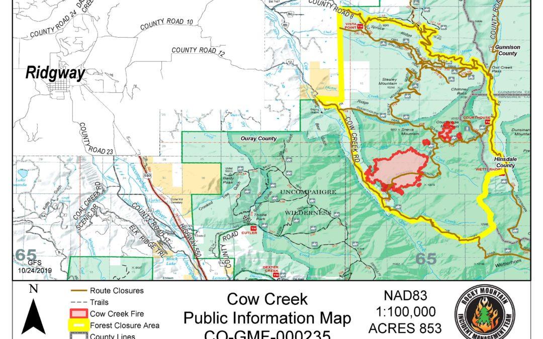 Cow Creek Fire 10/24/19 8am