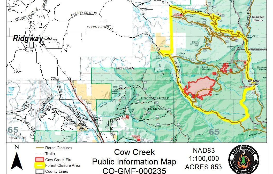 Cow Creek Fire 10/25/19 8:30am