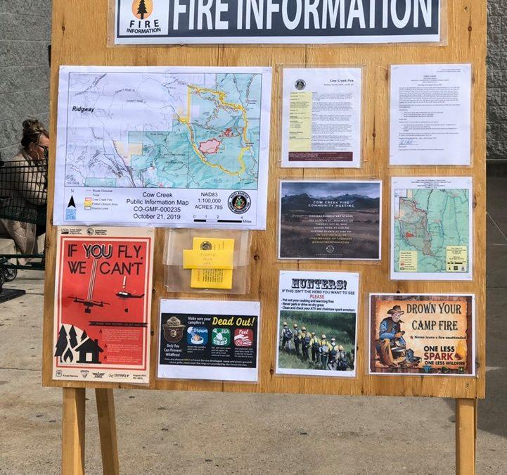 Cow Creek Fire Info 10/22/19 10am
